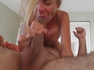 Mature hotwife 69s lover while hubby videotapes