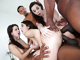 Interracial Orgy With Chanel, Keisha and Valentina