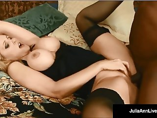 Milf Julia Ann & Rico Shades - Black Cock & Cum In My Mouth!
