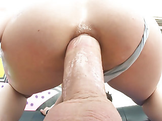 Sexy round ass filled with thick dick